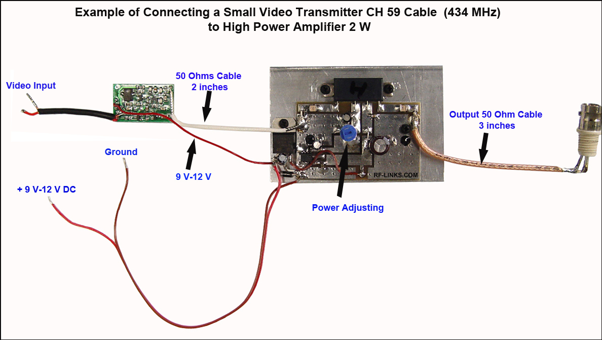 Ch59 Video Transmitters High Power Fm Transmitter Circuit Diagram How To Increase The Of Ch 59c